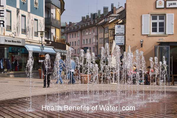 Urban water fountain in Germany