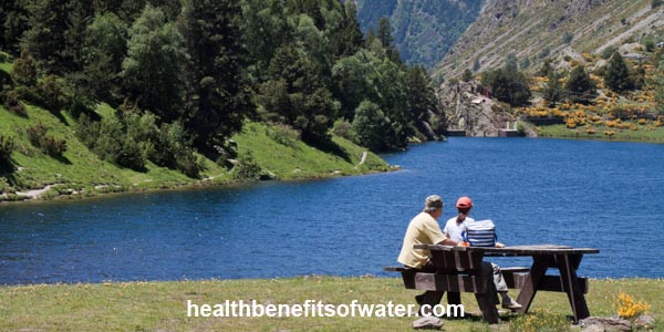 Negative Ions by the mountain lake in Andorra