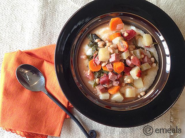 Ham, Kale & Navy Bean Stew