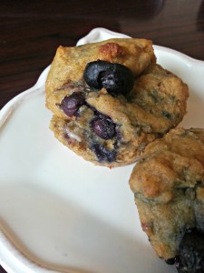 Blueberry lemon muffins 2