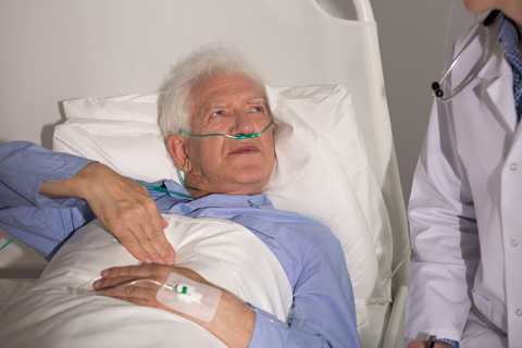 Picture of elderly man with lung cancer