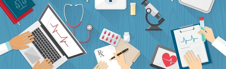 Symbols of healthcare teamwork