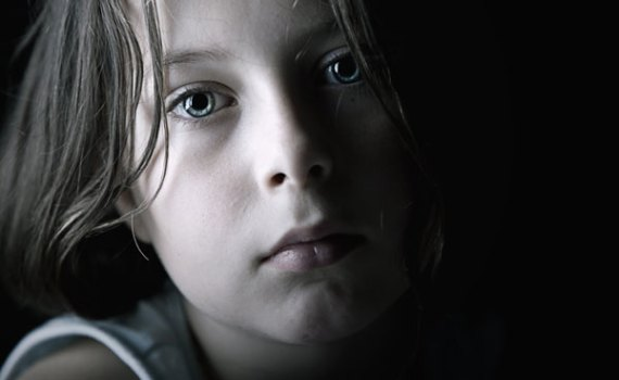 Close-up picture of a young girl