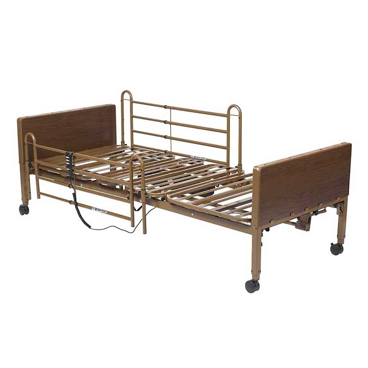 Standard Semi-Electric Bed Height Adjustable with Fiber Core Mattress in Michigan USA