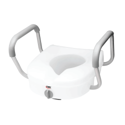 Carex Raised Toilet Seat with Lock and Arms | Michigan USA