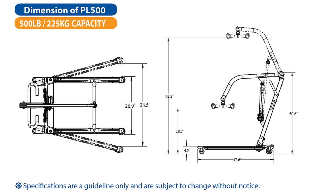 BestLift® PL500 – Full Body Patient Lift | Michigan USA