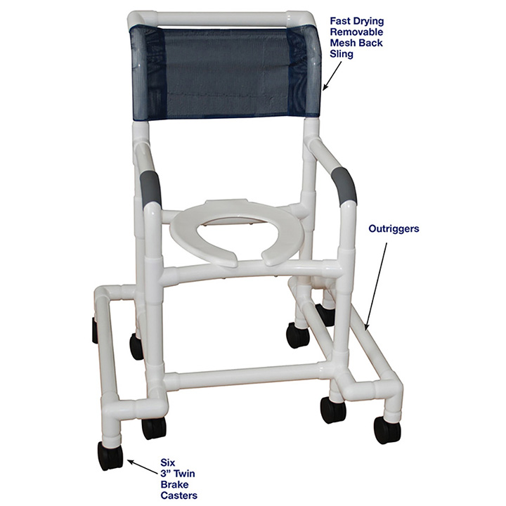 MJM SHOWER CHAIR WITH OUTRIGGERS - 118-3-SAFE in Michigan USA
