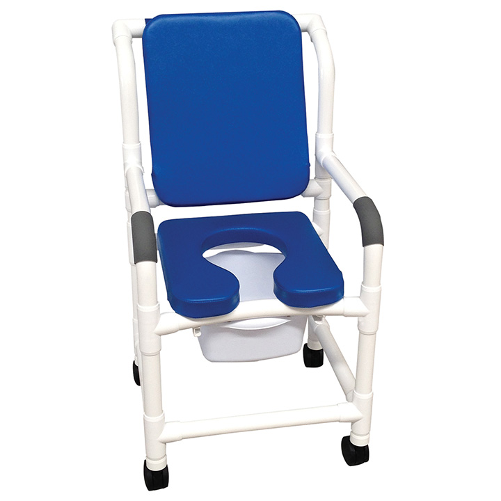 MJM Shower Chair Commode w/ Soft Seat Deluxe and Padded Back in Michigan USA