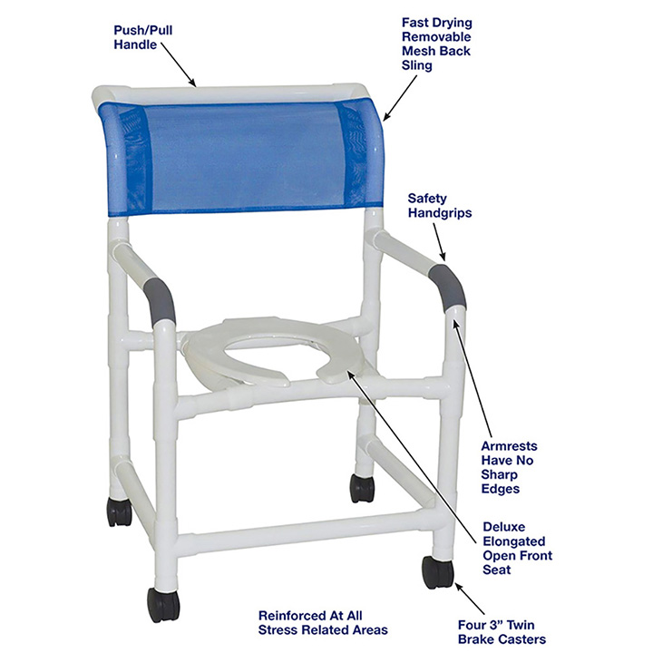 MJM MID-SIZE SHOWER CHAIR - 122-3 in Michigan USA