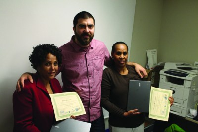 grants chromebook- Genet Abayazew, Ted Johnson, Berhana Woldemichael