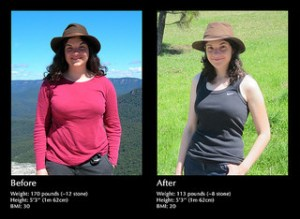 Weight loss before after