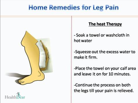 Home remedies for pain in legs