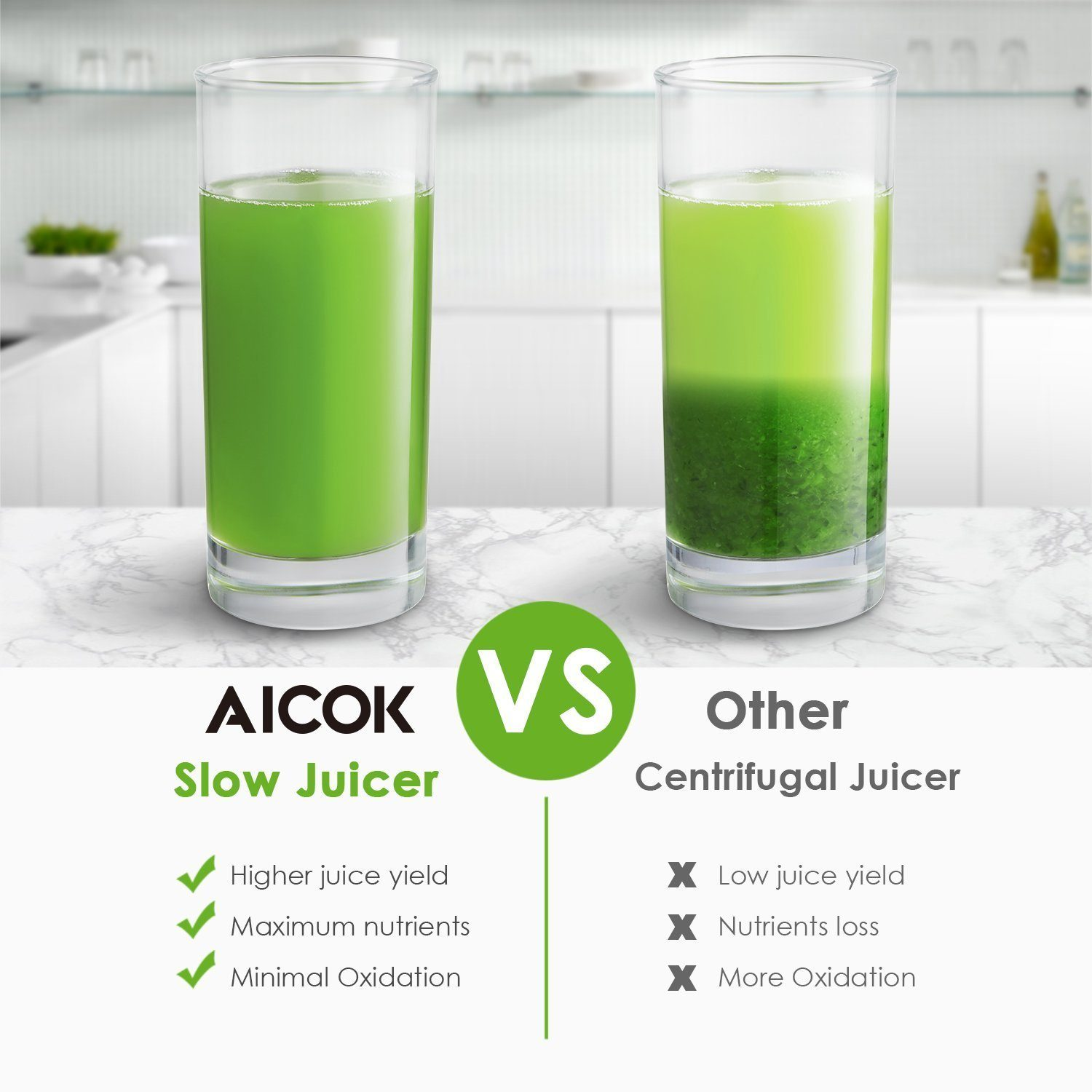 Difference between Aicok slow juicer and centrifugal juicer