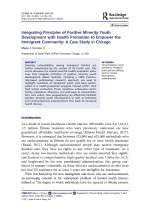 Integrating Principles of Positive Minority Youth Development with Health Promotion to Empower the Immigrant Community: A Case Study in Chicago