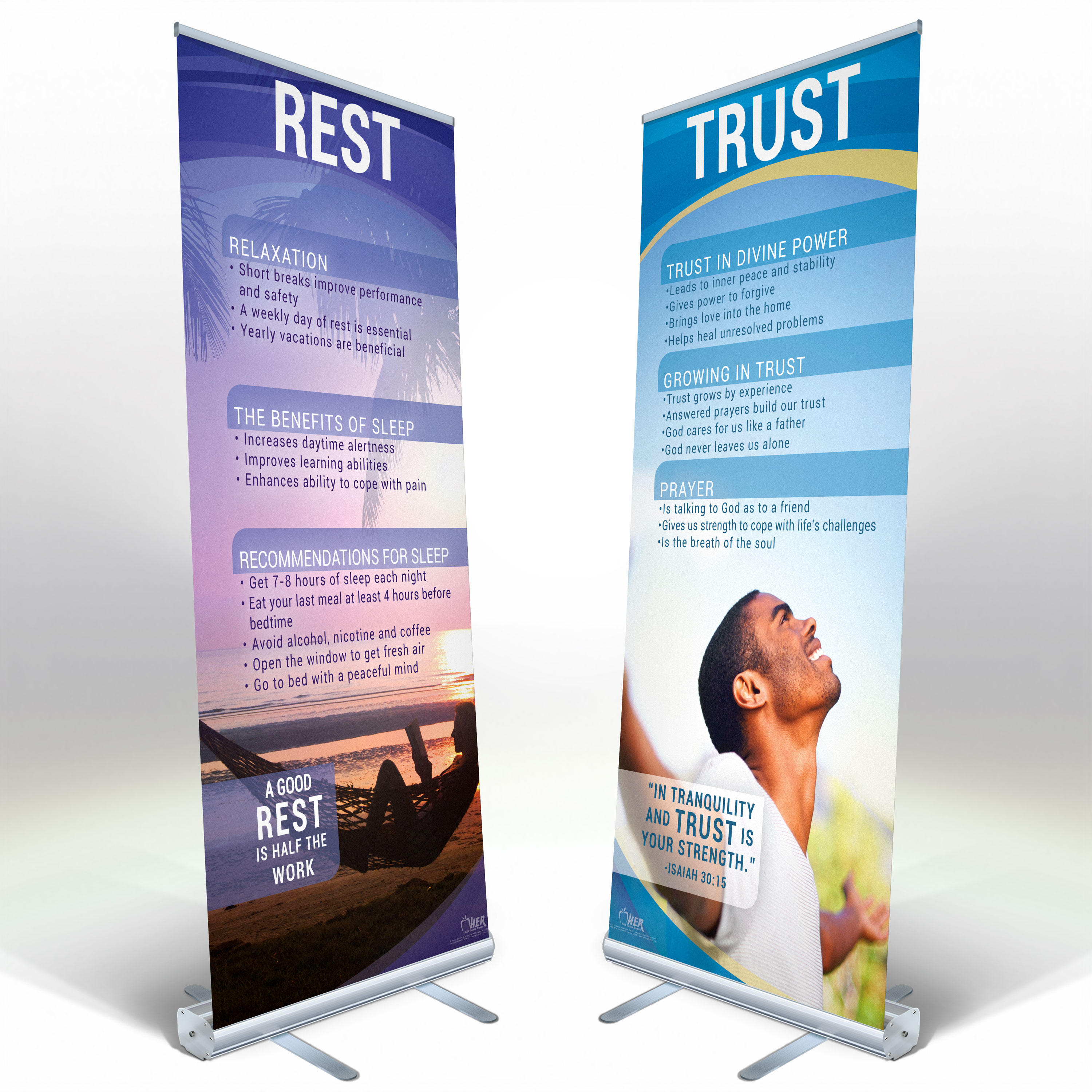 8 Banner Adult Health Expo Kit