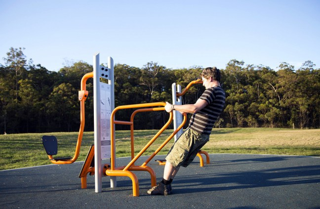 park with exercise equipment