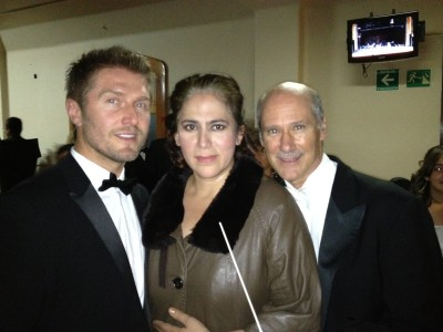 Samir Becic with world renowned opera singer Olivia Gorra and James Demster