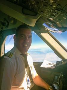 Dwight Albers flying a B-787