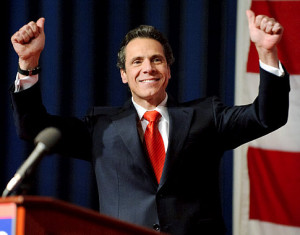 Gubernatorial candidate Andrew Cuomo victory celebration
