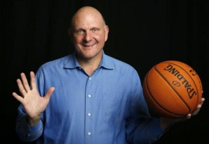 Los Angeles Clippers owner Steve Ballmer poses for a portrait in Culver City, Los Angeles