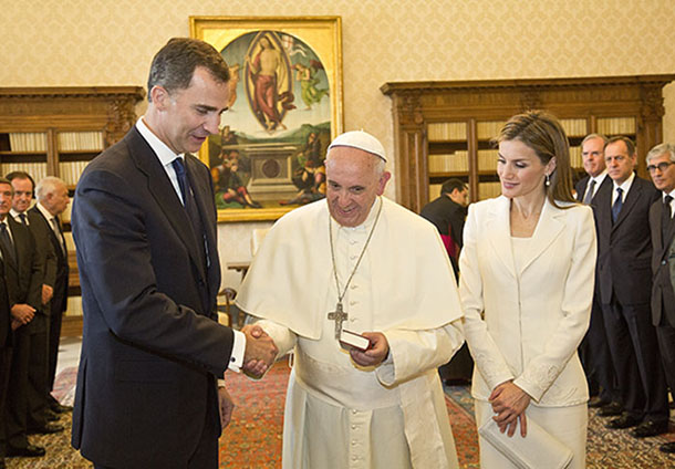 Pope Francis Met King Felipe And Queen Letizia - Vatican