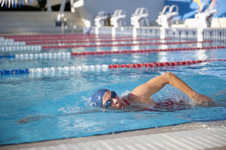 mature woman swimming
