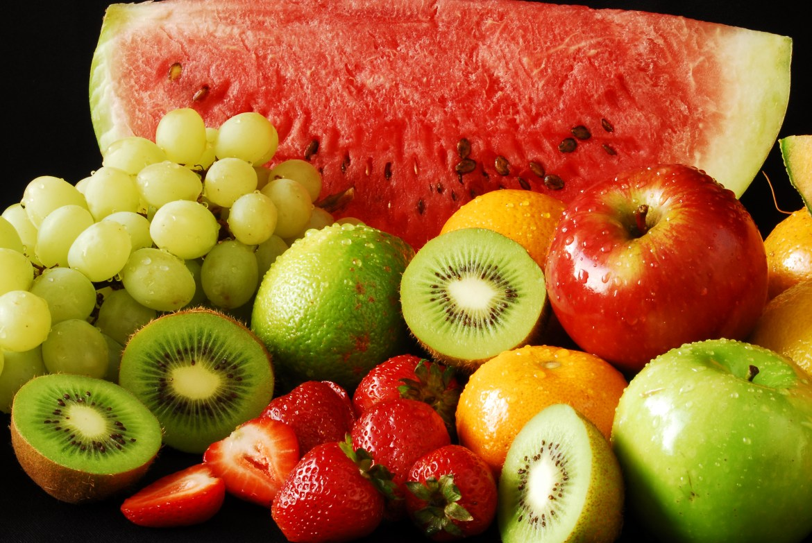colorful fresh group fruits
