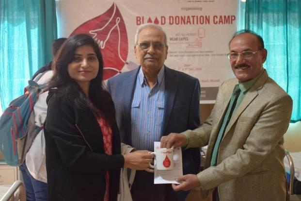एलएन मेडीकल काॅलेज में रक्तदान शिविर संपन्न
