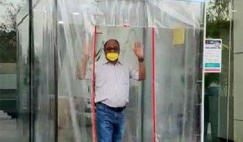 भोपाल में बनी पहली फुल बॉडी सेनेटाइजेशन मशीन