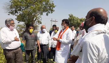 किसानों को मुआवजा राशि देंगे : मंत्री श्री पटेल