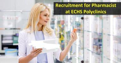 ECHS Polyclinics Recruitment for Pharmacist