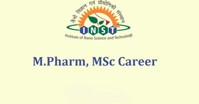 INST Career for MPharm MSc under SERB funded project