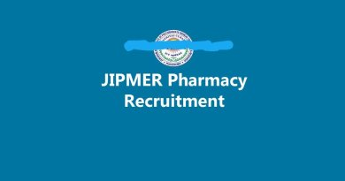 JIPMER Recruitment for MPharm or MSc under the SERB research project
