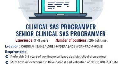 Symbiance Work from Home Opportunity for Clinical SAS Programmers