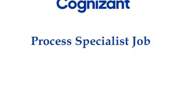 Cognizant MPharm MSc BPharm Work as Process Specialist