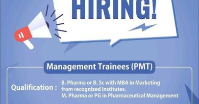OZONE PHARMACEUTICALS Hiring Freshers and Experienced BPharm BSc MPharm MBA Candidates Management