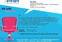 PAR FORMULATIONS Urgent Openings for Analytical Development Apply Now