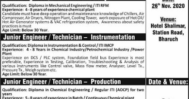 SRF Limited WalkIn Interviews for Mechanical Instrumentation Production QC QA on 26th and 28th Nov 2020
