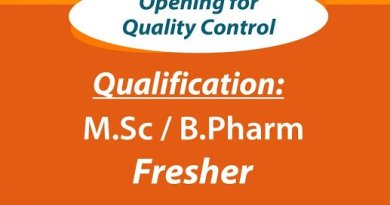 SUNRISE INTERNATIONAL LABS LTD Urgent Openings for MSc BPharm Freshers QC Department Apply Now