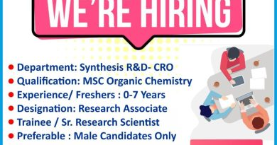 SimSon Life Science Pvt Ltd WalkIn Interviews for Fresher and Experienced in Synthesis R and D CRO on 16th Nov to 21st Nov 2020