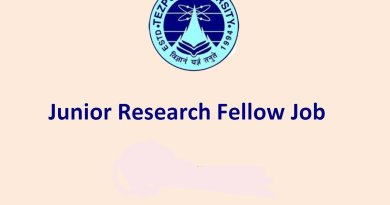 Tezpur University Walk in Interview for Junior Research Fellow
