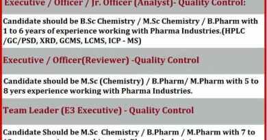 MNC Pharma Company Telephonic Interview for QC QA Departments