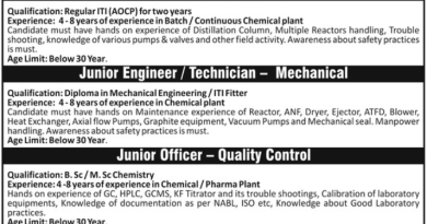 SRF LIMITED WalkIn Interviews for Production Quality Control Mechanical Department on 26th Dec 2020