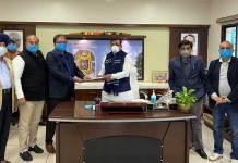 नगरीय विकास मंत्री श्री सिंह से मिले क्रेडाई के पदाधिकारी