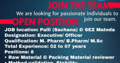 Amneal Pharma Limited Urgent Hiring for Quality Control Department Apply Now