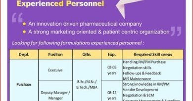 Pulse Pharmaceuticals Urgent Openings for Purchase Marketing Administration Departments