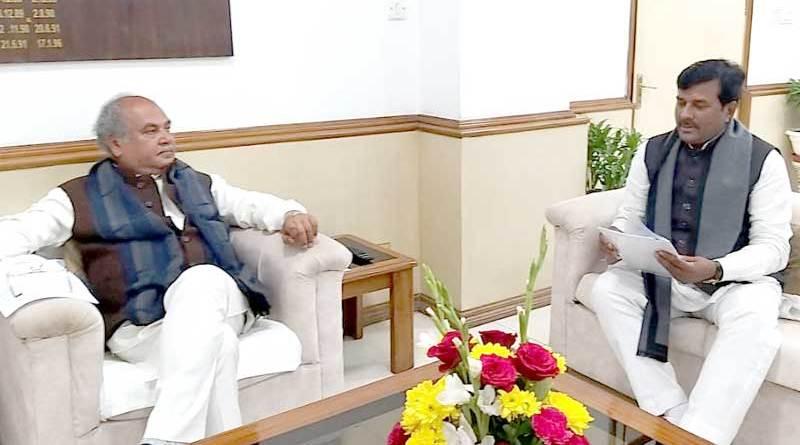 उद्यानिकी, खाद्य प्रसंस्करण (स्वतंत्र प्रभार) राज्य मंत्री श्री कुशवाह ने केन्द्रीय कृषि मंत्री श्री तोमर से मिलकर चैन फेंसिंग प्रोजेक्ट पर चर्चा की