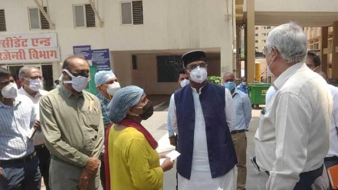 चिकित्सा शिक्षा मंत्री श्री सारंग ने देखी हमीदिया अस्पताल की व्यवस्था