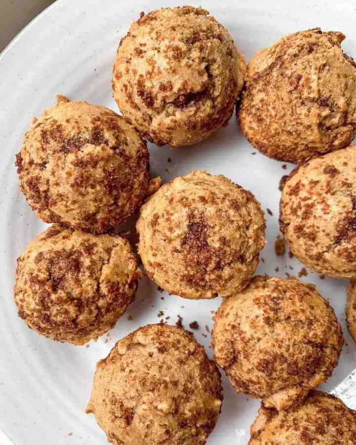 healthy mini cinnamon sugar muffins