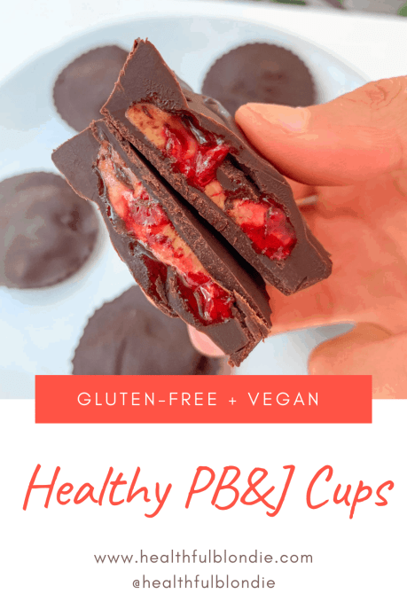 healthy peanut butter and Jelly Cups